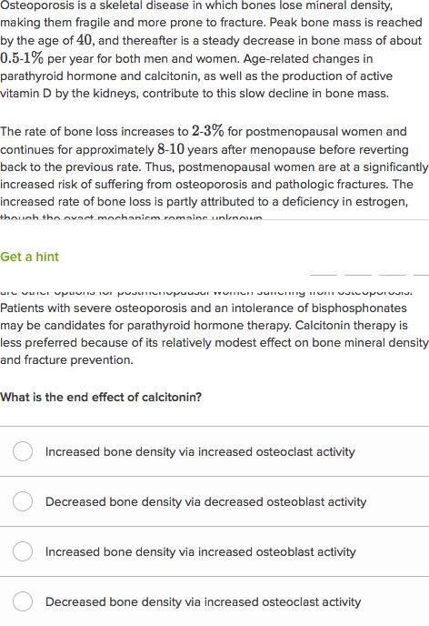 osteoporosis hesi case study quizlet