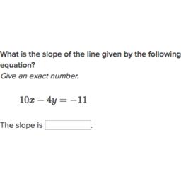 Slope from linear standard form   Algebra (practice)   Khan Academy