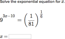 Solving exponential equations using exponent properties (video ...
