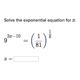 Solve Exponential Equations Using Exponent Properties Practice