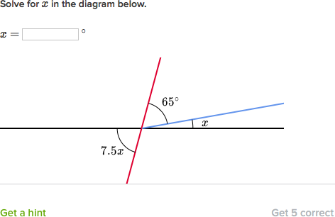 Unknown Angle Problems With Algebra Practice Khan Academy