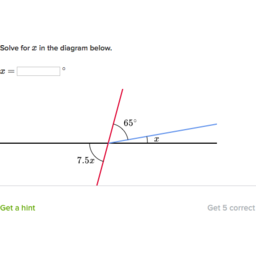 unknown angle problems (with algebra) (practice) khan academy