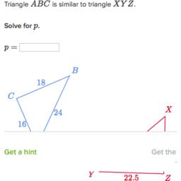 Solve similar triangles (basic) (practice) | Khan Academy