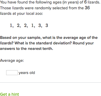 sample and population standard deviation practice khan academy