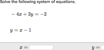 Systems Of Equations With Substitution Practice Khan Academy