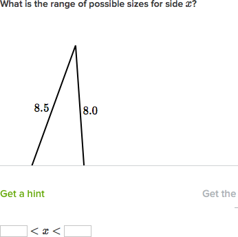 Triangle Side Length Rules Practice Khan Academy