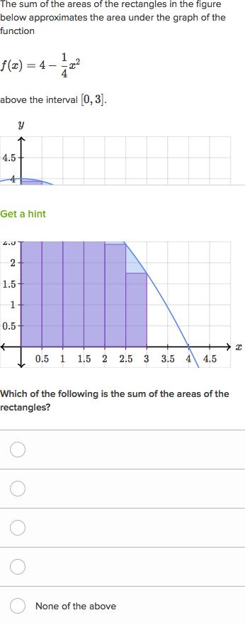 Mathwords: area under a curve.