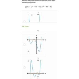 Zeros Of Polynomials Their Graphs Practice Khan Academy