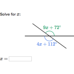Equation practice with vertical angles (practice) | Khan Academy