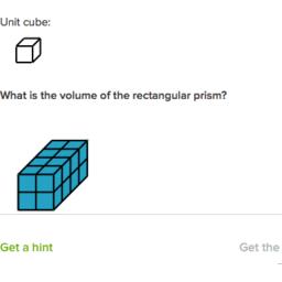 El volumen con cubos unitarios 1 (practica) | Khan Academy