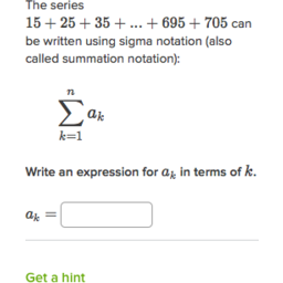 Sigma notation calculator.