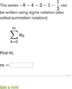 Finite geometric series in sigma notation (video) | Khan Academy