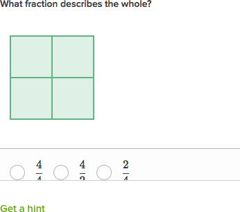Representing 1 as a fraction (video) | Khan Academy