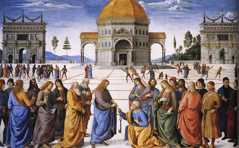 Perugino, Christ Giving the Keys of the Kingdom to St. Peter (article)   Khan Academy