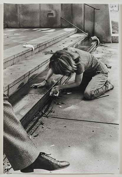 Image result for Mierle Laderman Ukeles,Washing/Tracks/Maintenance: Outside (July 23, 1973), Wadsworth Atheneum Museum of Art