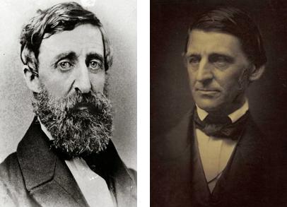 Photos of Henry David Thoreau and Ralph Waldo Emerson