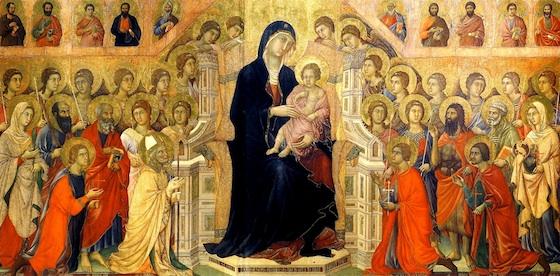 Duccio, Maesta (front, central panel), 1308-11 (Museo dell'Opera Metropolitana del Duomo, Siena)