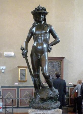 ae5f3f2521 Donatello, David, circa 1440, bronze, 158 cm (Museo Nazionale de Bargello,  Florence)