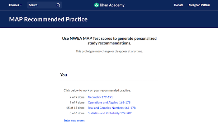 How to use NWEA MAP Recommended Practice (article)   Khan ...