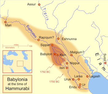 Babylonia at the time of Hammurabi
