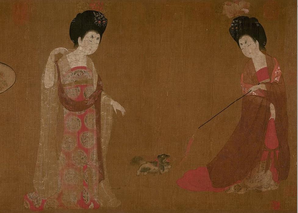 Zhou Fang Ladies Wearing Flowers In Their Hair Article Khan Academy