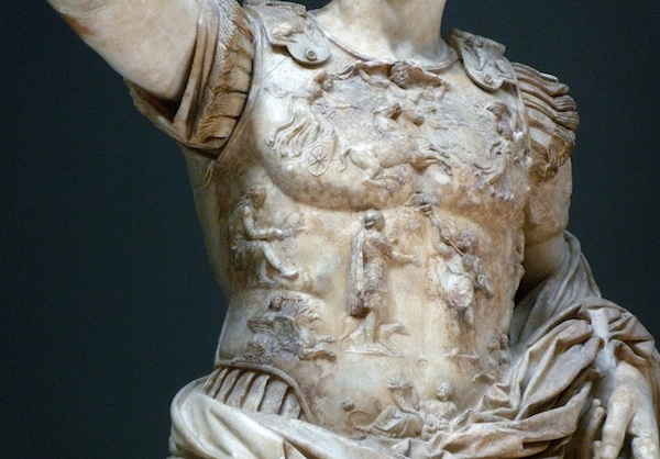 Augustus of Primaporta (detail of breastplate)