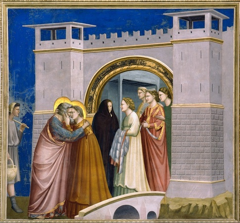 Giotto, Meeting at the Golden Gate, Arena (Scrovegni) Chapel, Padua, c. 1305