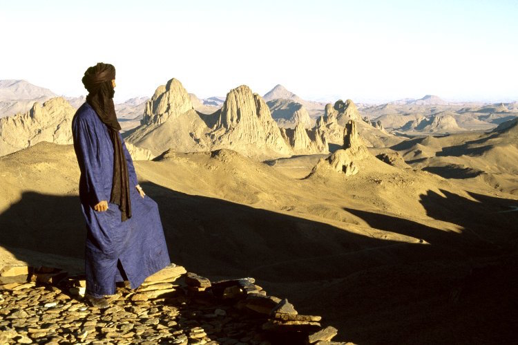 Tuareg looking over the Tassili n'Ajjer massif. 2013,2034.4551 © TARA/David Coulson