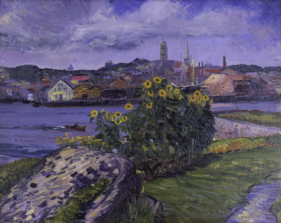 John Sloan. Sunflowers at Rocky Neck, 1914, oil on canvas (Cape Ann Museum, Gloucester, MA)