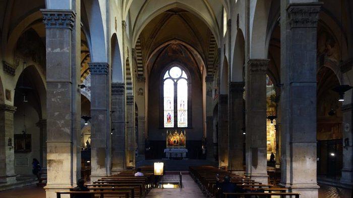 Interior of Santa Trinità, Florence (photo: Steven Zucker, CC BY-NC-SA 4.0)