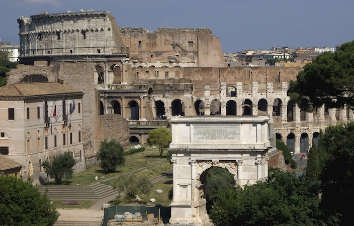 Planwrite Business Plan Writer Deluxe Arch Of Titus Foreground With The Colloseum In The Background Online Technical Schools also Freelance Writing Service Roman Architecture Article  Ancient Rome  Khan Academy Thesis Statement For Definition Essay