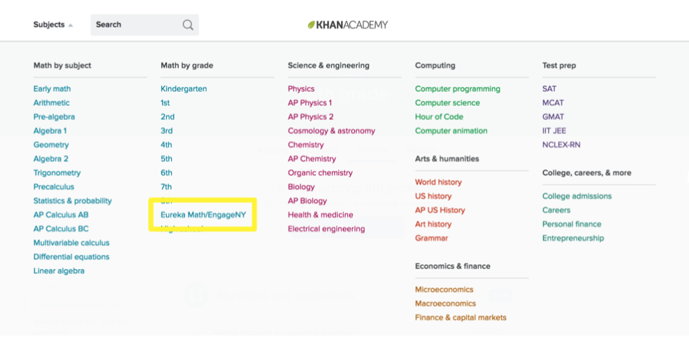 On-grade support and Eureka Math / EngageNY (article) | Khan Academy