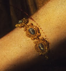 Bracelet (detail), Artemisia Gentileschi, Judith and Holofernes, 1620-21, oil on canvas, 162.5 x 199 cm (Uffizi Gallery, Florence)