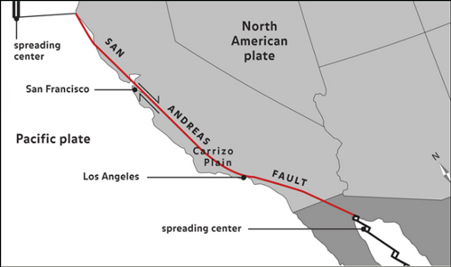 The San Andreas Is Probably Best Known Transform Fault Boundary It Connects Spreading East Pacific Rise In Gulf Of California