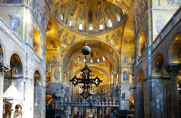 Saint Mark's Basilica, Venice, begun 1063, Middle Byzantine