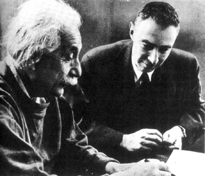Example Of A Thesis Statement In An Essay Photograph Of Albert Einstein And J Robert Oppenheimer Healthy Eating Habits Essay also Persuasive Essay Topics High School Students The Atomic Bomb  The Manhattan Project Article  Khan Academy Essay Writing Examples For High School