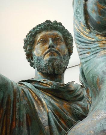 Equestrian Sculpture of Marcus Aurelius, bronze, c. 173-76 C.E. (Capitoline Museums, Rome)