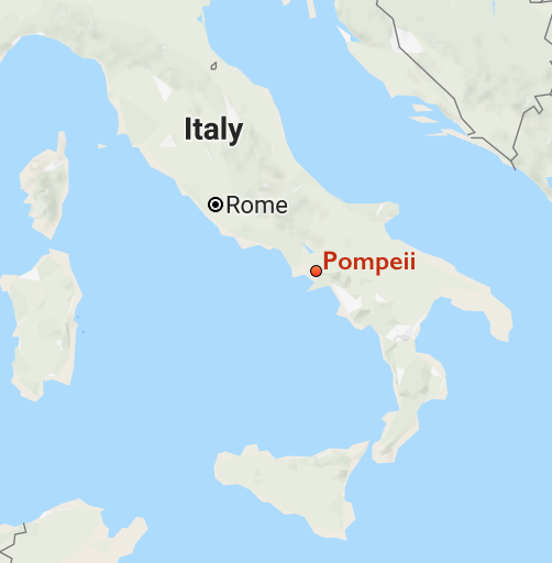 Where Is Pompeii On A Map Of Italy.The Rediscovery Of Pompeii And The Other Cities Of Vesuvius Article
