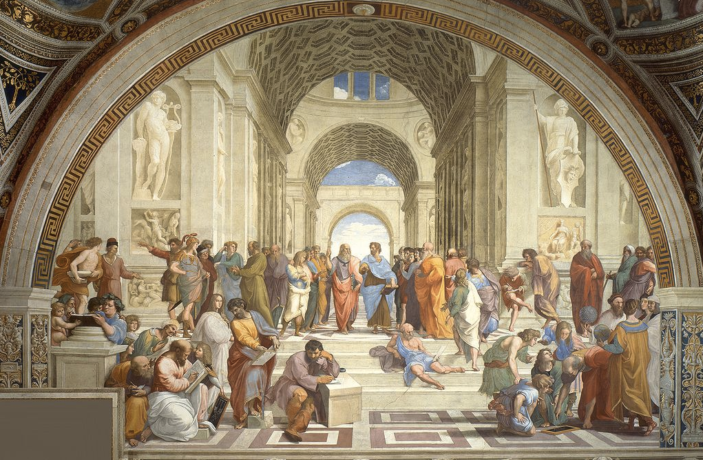 Picture of the painting _School of Athens_ by Raphael.