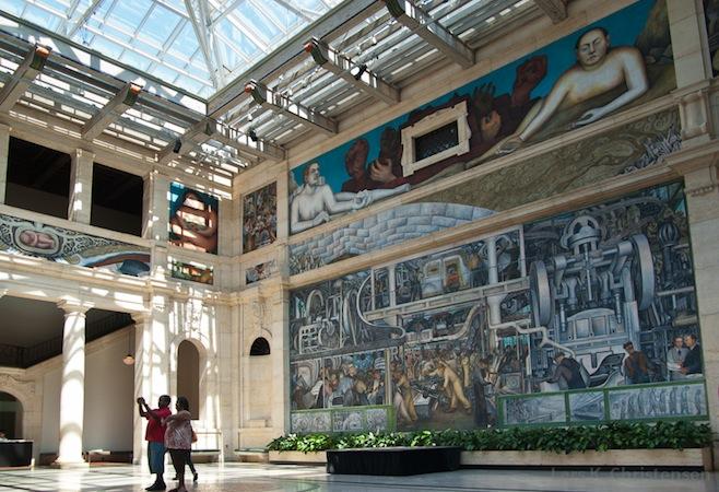 Rivera detroit industry murals article khan academy for Detroit industry mural