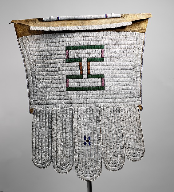 Married Woman's Apron (Ijogolo), 19th-20th century, South Africa, Ndebele peoples, leather, beads and thread, 75.6 x 67.3cm (The Metropolitan Museum of Art)