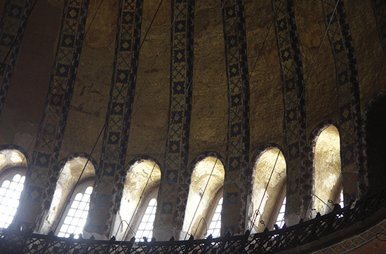 Windows at the Base of the Dome, Hagia Sophia (photo: William Allen, CC BY-NC-SA 2.0)