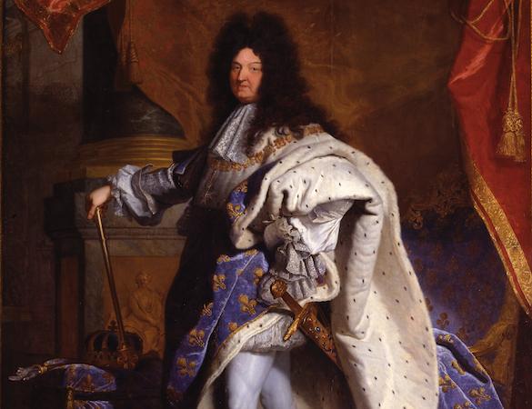 """The kind (detail), Hyacinthe Rigaud, Louis XIV, 1701, oil on canvas, 9'2"""" x 6'3"""" (Musée du Louvre, Paris)"""