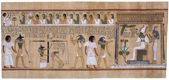 Page from the Book of the Dead of Ani, c. 1275 B.C.E., 19th Dynasty, 44.5 x 30.7 cm, Thebes, Egypt © Trustees of the British Museum