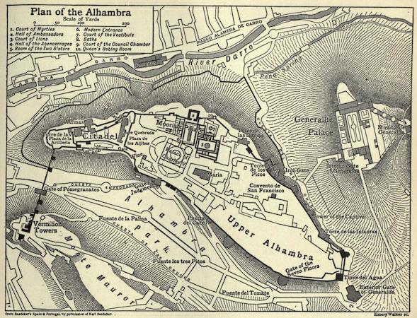 Plan of the Alhambra and Generalife