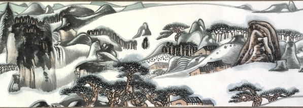 Zhu Xiuli, Landscape, handscroll, ink and colour on paper, 1985-89, 30.3 cm high, © The Trustees of the British Museum