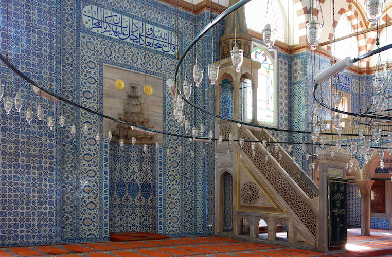 Sinan, Rüstem Paşa Mosque, mihrab and minbar  Mimar Sinan, Rüstem Pasha Mosque, 1561-63 (Istanbul)