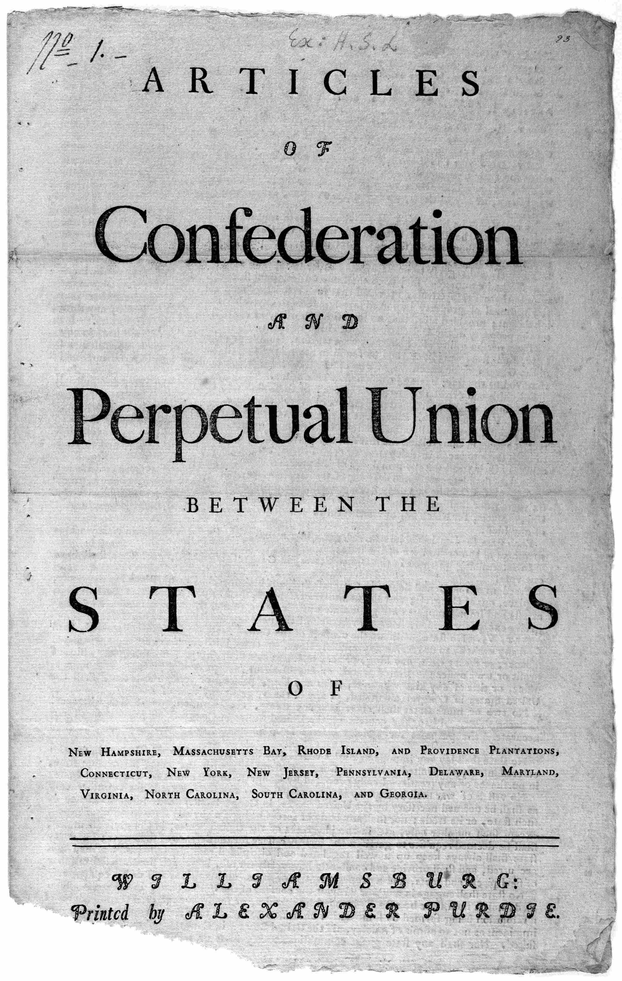 articles of confederation taxation