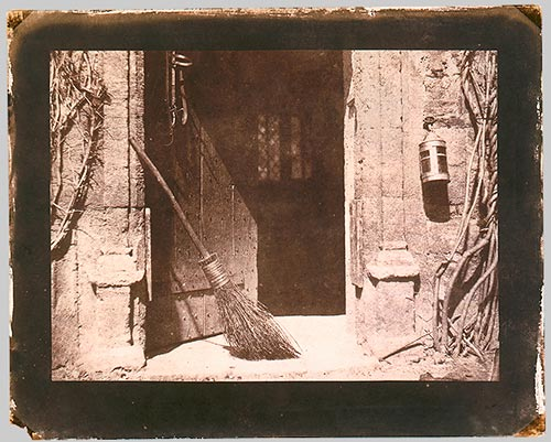 William Henry Fox Talbot, The Open Door, 1844, Salted paper print from paper negative