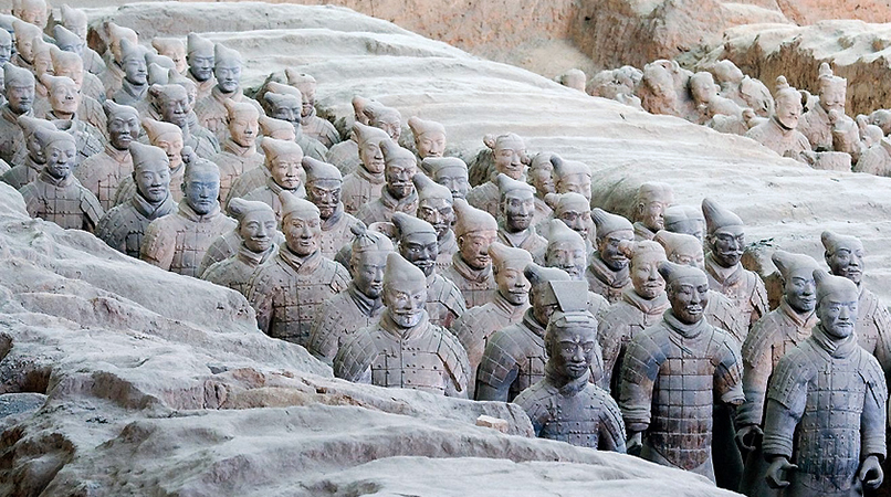 12eaed567 Terracotta warriors from the mausoleum of the first Qin emperor of China Qin  Shihuang, c